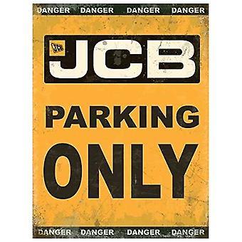 JCB Parking Only Large Flat Metal Sign (og 4030)