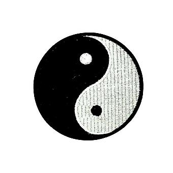 Patch Ecusson Brode Drapeau Backpack Ying Yang Thermocollant