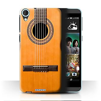 STUFF4 Case/Cover for HTC Desire 820q Dual/Wood/Wooden Acoustic/Guitar