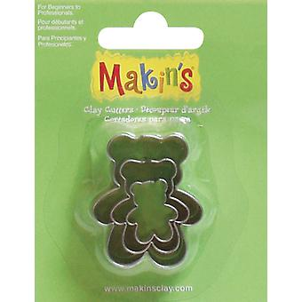 Makin's Clay Cutters 3 Pkg Teddybear M360 11