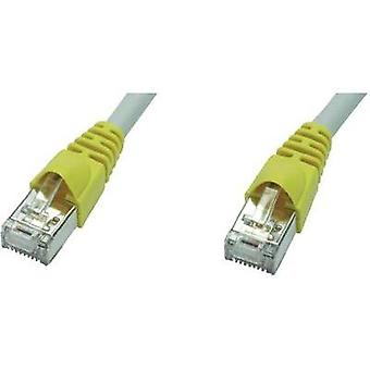 RJ45 (cross-over) redes Cable CAT 6A S/FTP 7.50 m gris ignífugo, retén incl. Telegärtner