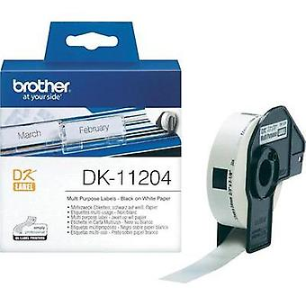 Brother Labels (roll) 54 x 17 mm Paper White 400 pc(s) Permanent DK11204 Address labels