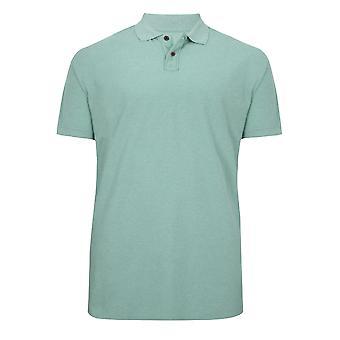 BadRhino lys grønn ren Polo skjorte med korte ermer - høy