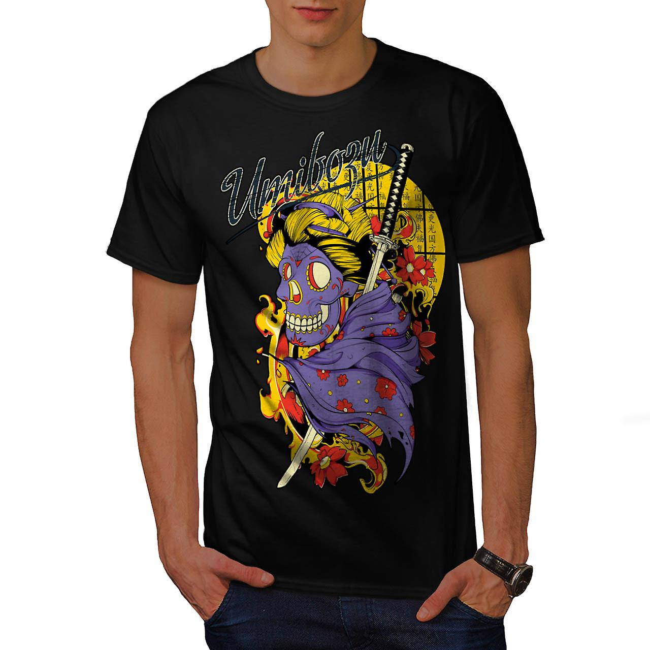 Umiboru Geisha Girl Evil Japan Men Black T-shirt | Wellcoda