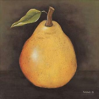 Yellow Pear Poster Print by Kim Lewis