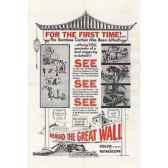 Bag mur film plakat Print (27 x 40)