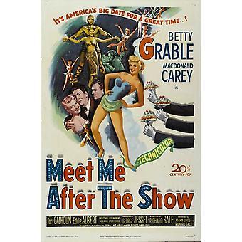 Møt meg etter den viser film plakat ut (27 x 40)