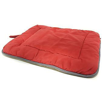 Dog Gone Smart Suede Crate Mat Red 76x122cm