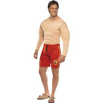 Smiffys Baywatch Lifeguard Costume Red (Kostüme)