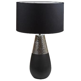 Wellindal Lámpara Cerámica plata (Home , Lighting , Table lamps)