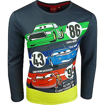 Boys -PH1309-Disney Cars Boys Long Sleeve Top / T-Shirt