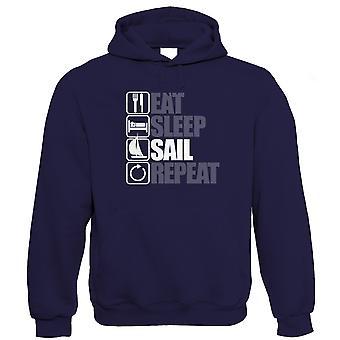 Eat Sleep Sail Repeat Sailing Hoodie