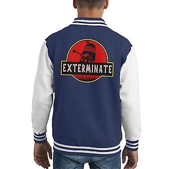 Darlek Exterminate Jurassic Park Dr Who Kid's Varsity Jacket