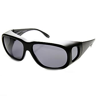 Large Polarized Side Lens Full Protection Square Fit Over Sunglasses