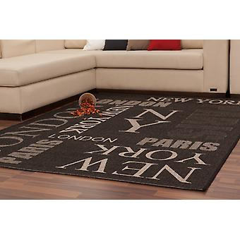 Modernes tapis pile plate NEW YORK Design nouveau OVP offre anthracite