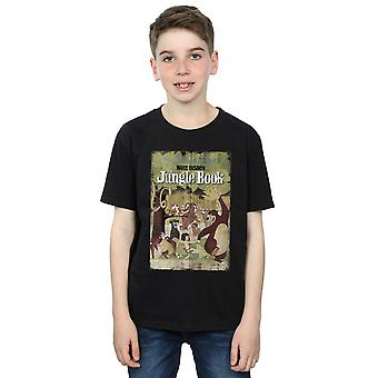 Disney drenge Jungle Book Retro plakat T-Shirt