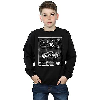 Disney Boys Cars Cruz Ramirez Blueprint Sweatshirt