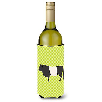 Belted Galloway Cow Green Wine Bottle Beverge Insulator Hugger