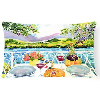 Afternoon of Grape Delights Wine Fabric Decorative Pillow