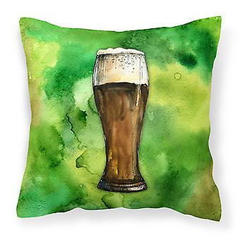 Carolines Treasures  BB5760PW1414 Irish Beer Dark Fabric Decorative Pillow