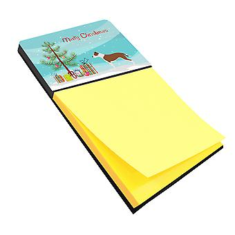 Carolines Treasures  BB8487SN Pit Bull Terrier Christmas Sticky Note Holder