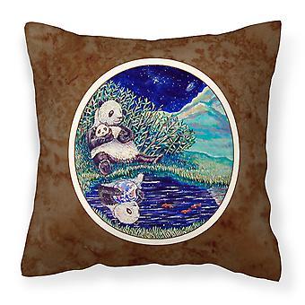 Carolines Treasures  7114PW1414 Panda Bear with Baby Fabric Decorative Pillow