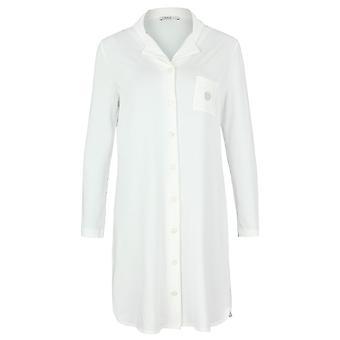 Feraud 3883031-10044 Women's Champagne White Sleep Shirt Nighty Nightshirt