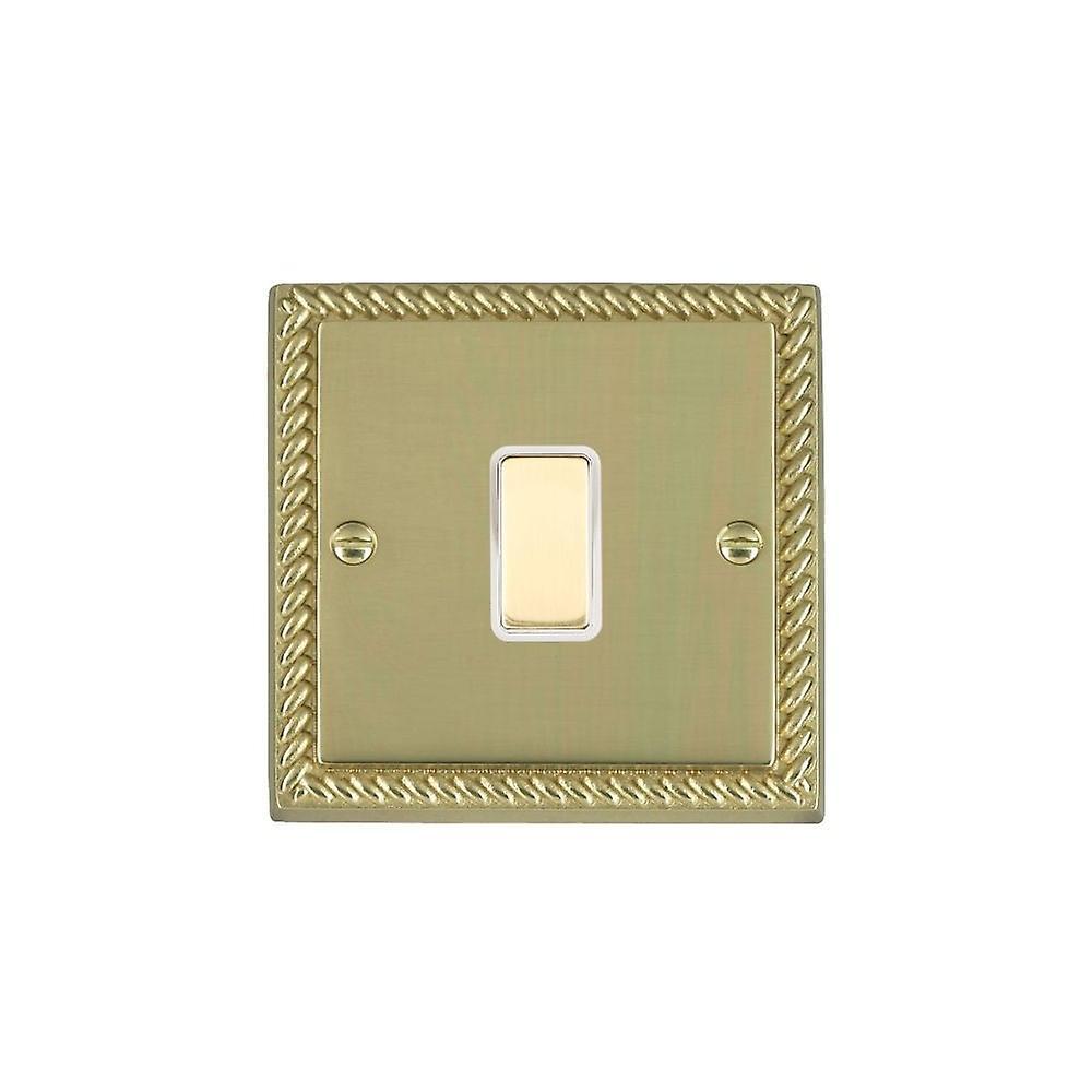 Hamilton Litestat Cheriton Georgian Polished Brass 1g 250W M-Way Touch Mast PB WH