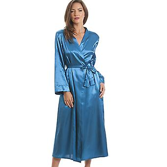Camille luxe Satin And Lace Teal wikkel
