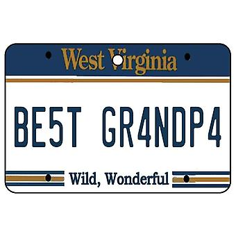 West Virginia - Best Grandpa License Plate Car Air Freshener