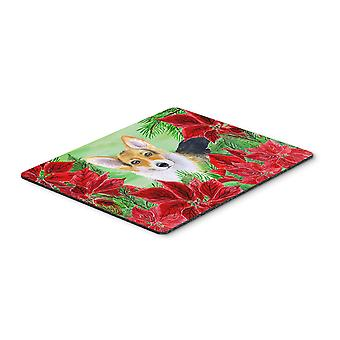 Pembroke Corgi Poinsettas Mouse Pad, Hot Pad or Trivet