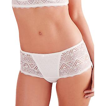 Guy de France 76265-181-004 Women's White Solid Colour Knicker Shorties Boyshort
