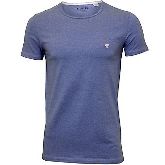 Guess Crew-Neck T-Shirt, Marl Blue