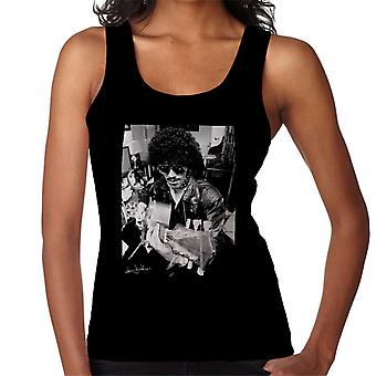 Phil Lynott Of Thin Lizzy Playing Acoustic 1976 Women's Vest