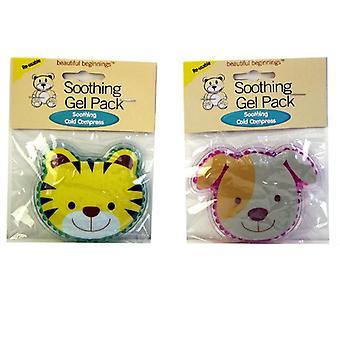 Beautiful Beginnings 2 Soothing Gel Packs Puppy & Tiger