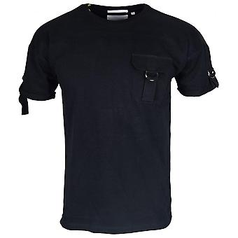 883 Police Sergent Web Slim Fit Round Neck Jet Black T-shirt
