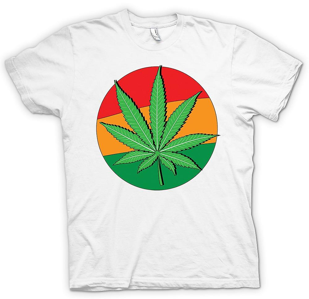 Womens T-shirt - Hash Leaf Jamaica Flag - Cool