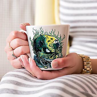 ゴス頭蓋骨ホット ホラー ホワイト ティー コーヒー セラミック カフェラテ マグカップ 17 oz |Wellcoda