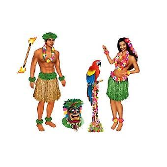 Ragazza di hula e ragazzo polinesiano puntelli (5 In un pacchetto)