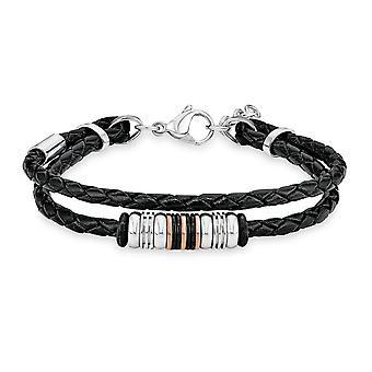 s.Oliver bijou mens bracelet cuir SO1370/1 - 540414