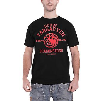 Game of Thrones T Shirt Dragonstone Targaryen Emblem new Official Mens Black