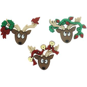 Dress It Up Holiday Embellishments-Oh Deer