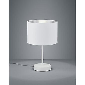 Trio Beleuchtung Hostel moderne weiß Matt Metall Tischlampe