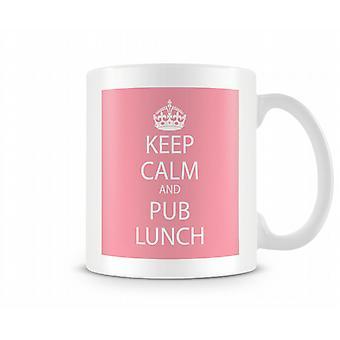 Mantenere la calma e pranzo in un Pub tazza stampata