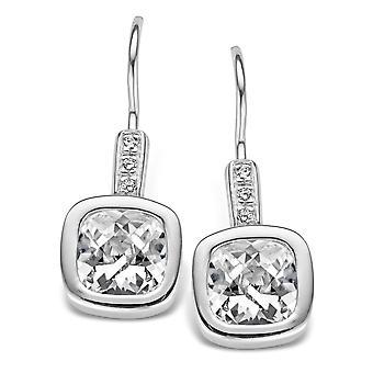 Orphelia sølv 925 dråbe øreringe Carree hvid Zirconium ZO-5035