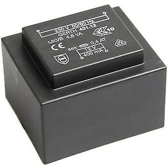 PCB mount transformer 1 x 230 V 1 x 9 V AC 4.80 VA 266 mA