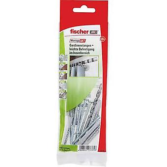 Fischer 534584 Mounting kit curtain rods indoors Content 1 Set 6 x UNIVERSAL DOWEL UX 6x50 mm R · 6 x screws 4.5 x 75 mm · 1 x stone drill Ø 6 x 100 mm.This