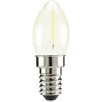 Sygonix LED EWG A++ (A++ - E) E14 Kerze 0,5 W warmweiß (Ø x L) 22 mm x 60 mm Filament 1 PC