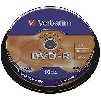 Blank DVD-R 4.7 GB Verbatim 43523 10 pc(s) Spindle