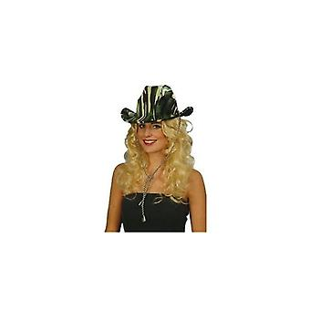 Union Jack porter Safari Cowboy/chapeau de camouflage vert
